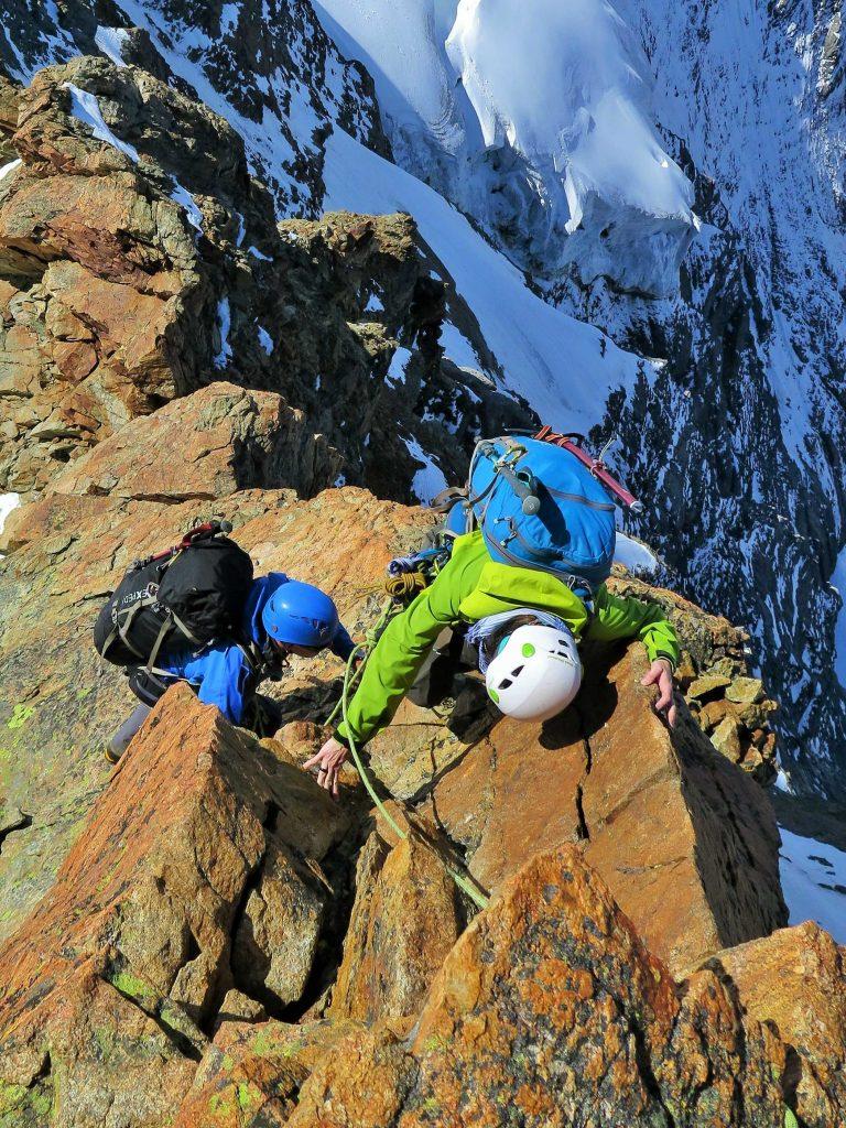 kletternd auf dem Grat (Photo by Christoph)