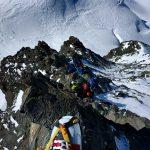Abstieg über den oberen Westgrat zum Rimpfischsattel