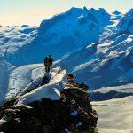 Der konzentrierte Abstieg beginnt.. (Raphael & Dani)